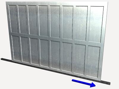 Prix en alg rie de u de porte coulissante pour garage en for Porte garage 250x200