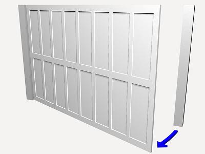 Prix en alg rie de u de porte battante pour garage de panneaux sandwich isolants en acier - Porte de garage basculante 200x200 ...